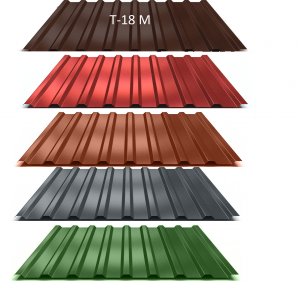 Trapezblech T-18M 0,5mm - 9,55 Euro/m² - Dachblech Profilblech Dachplatten